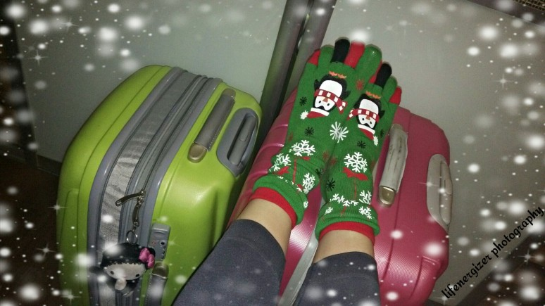 Even my feet are feeling Christmas!
